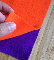 two pieces of felt layered on top
