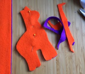 pin the two llama shapes together