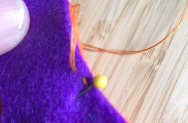 the first stitch