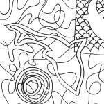 outline drawing of fish and water shapes