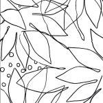 outline drawing of leaf shapes