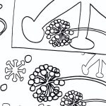 outline drawing of abstract shapes