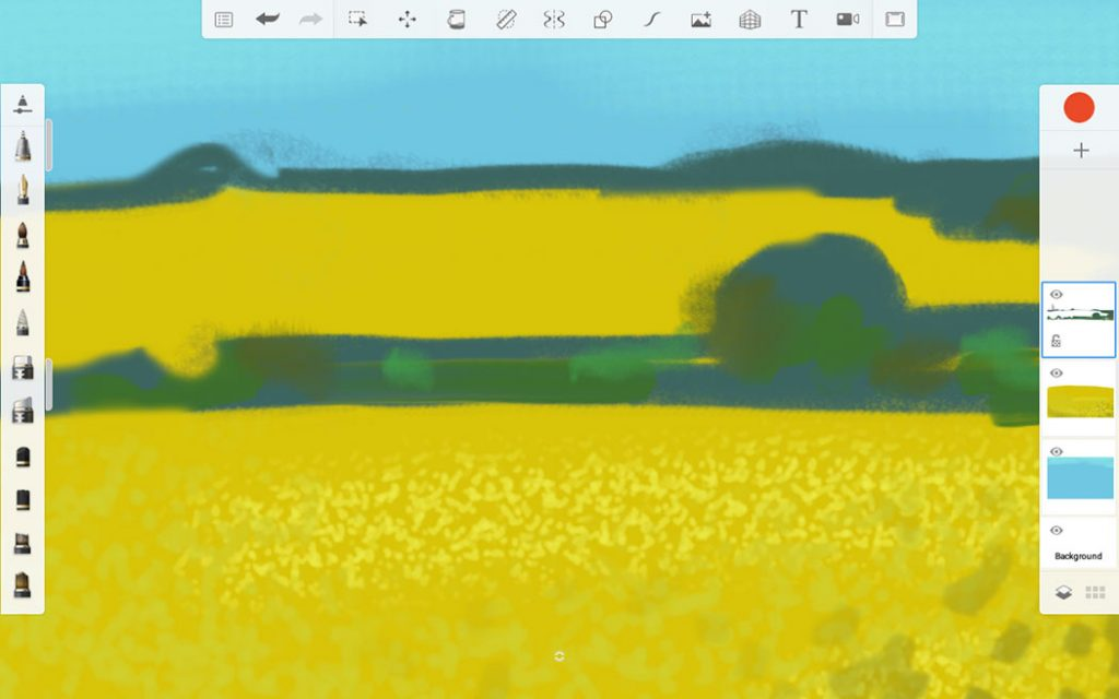 Example landscape showing layers in practice