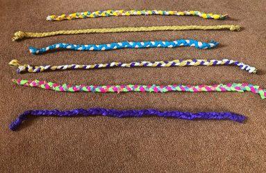 colourful plaited braids