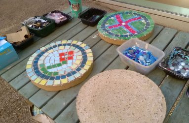 mosaic paving stones for the garden