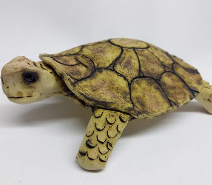 Turtle ceramic with natural matte glaze finish