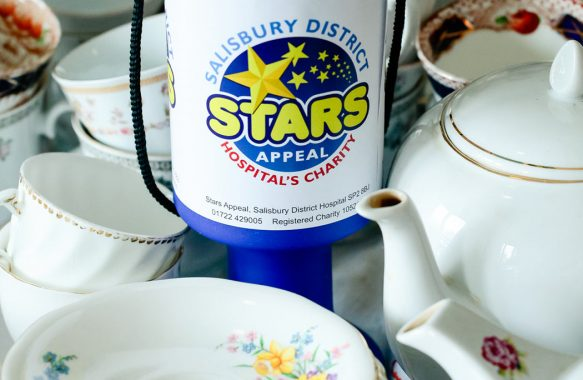 collecting tin with vintage china