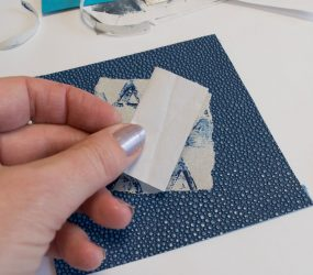 paper folded in half
