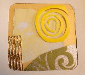 yellow swirl abstract layout
