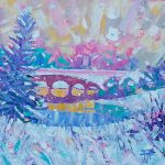 Stourhead in the snow, by Fiona Forbes
