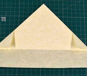 turn folded piece over