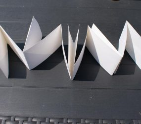 folding to form the pages