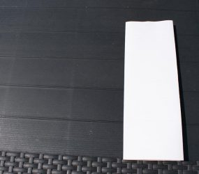 A3 paper fold lengthways again