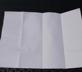 A3 paper folded open again