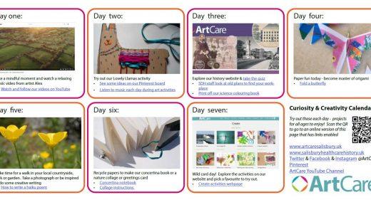 thumbnail images of creative calendar activities