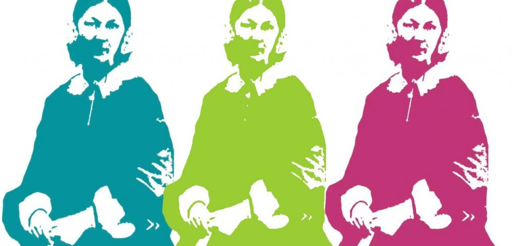 cut out one colour portraits of Florence Nightingale