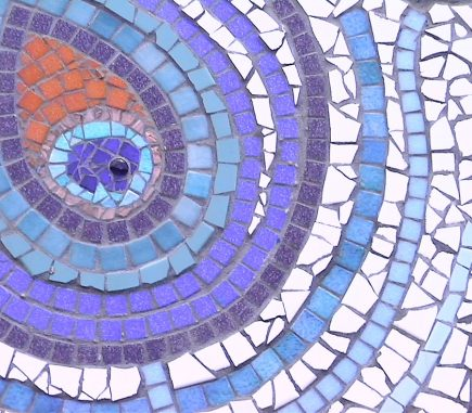 peacock feather design mosaic