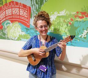 Pearl Love with ukulele