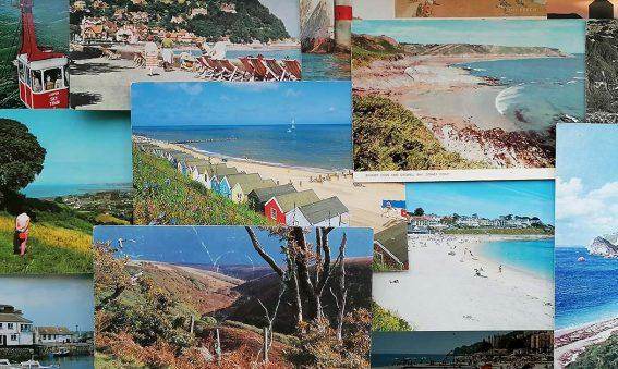 montage of seaside postcard images