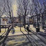 Morning Light , Salisbury by Frederick Caygill