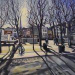 Morning Light , Salisbury by Frederick Caygill