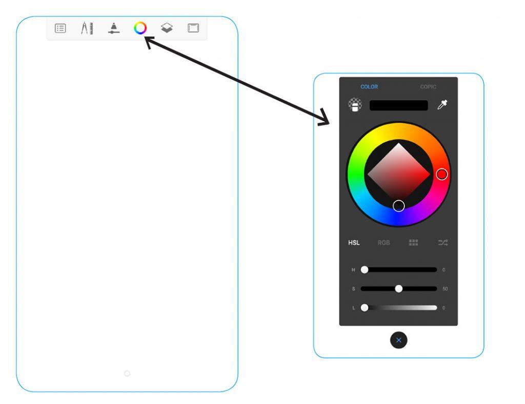 Sketchbook as viewed on mobile