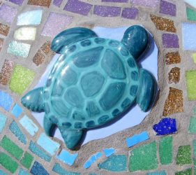 Turtle close up of mosaic